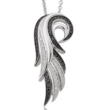 Micro Pave Set 925 Silver Angel Wing Pendants Jewelry